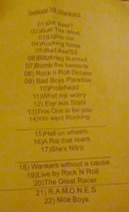 v8wankers set list