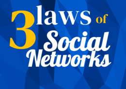 The adapted 3 laws of Social Networks by Lewis & Carroll