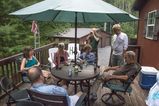 Photo Club Potluck Picnic - on deck of JT and Nancy Ptacek's cabin, June 24, 2017