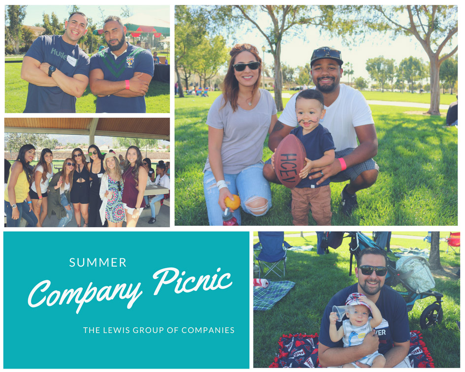 Lewis Careers Summer Company Picnic Collage
