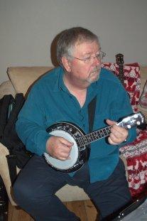 PLUC At Simon's 40th - Chris With Banjo