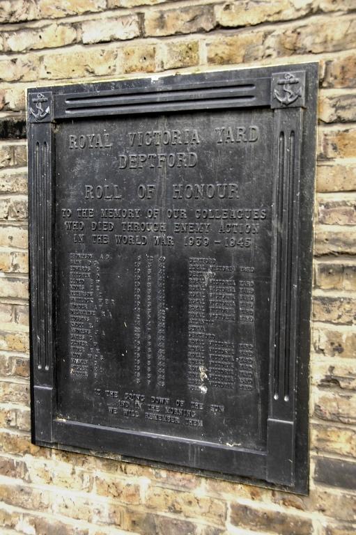 Deptford Royal Victoria Yard Deptford WW2 War Memorial