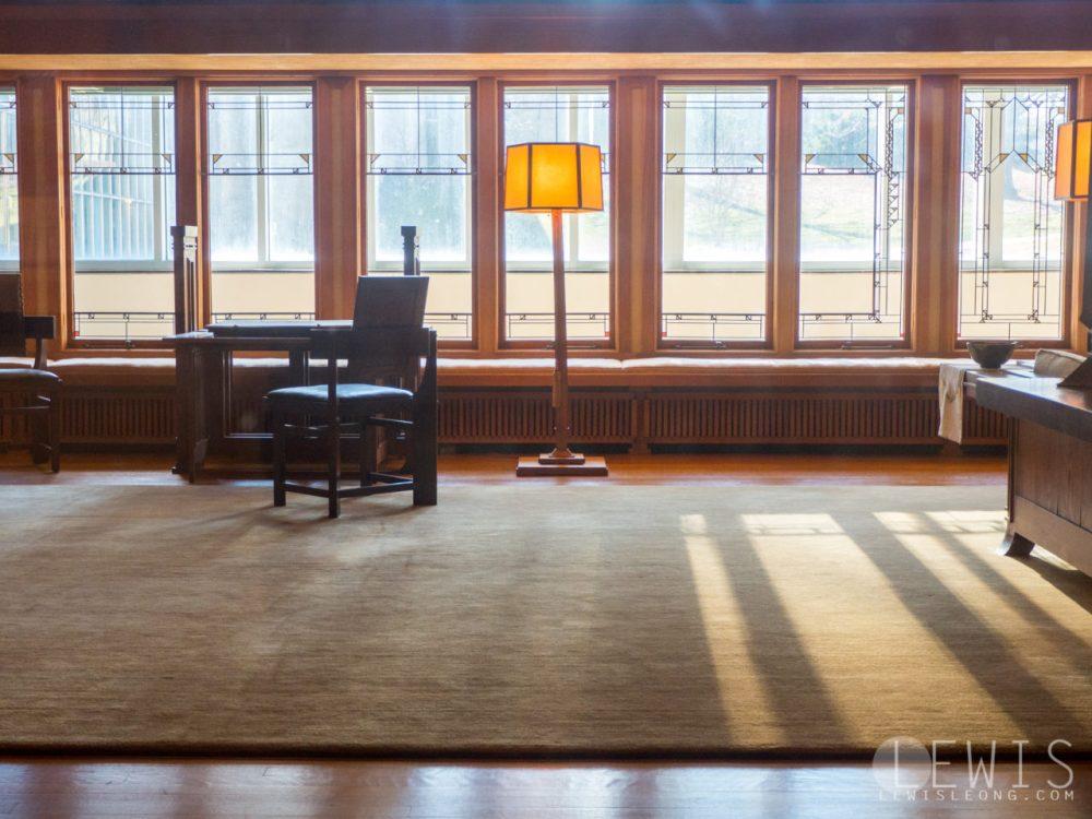 Frank Lloyd Wright living room recreation