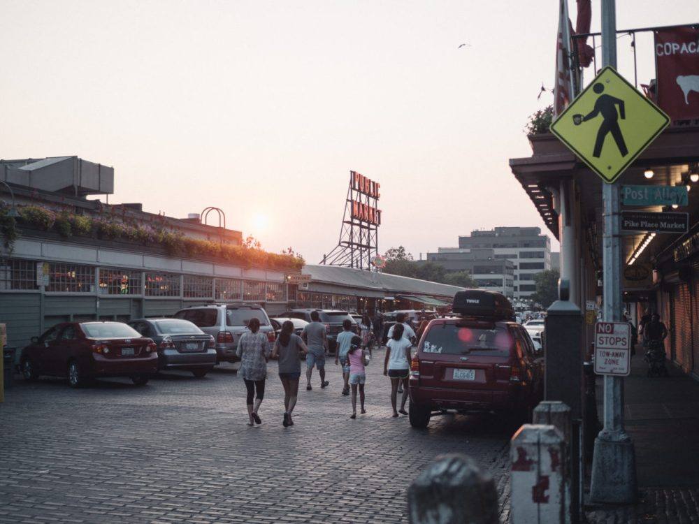 Pikes Place Sunset