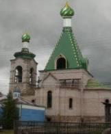 Купола из зеленого полимера с полосками нитрит титана
