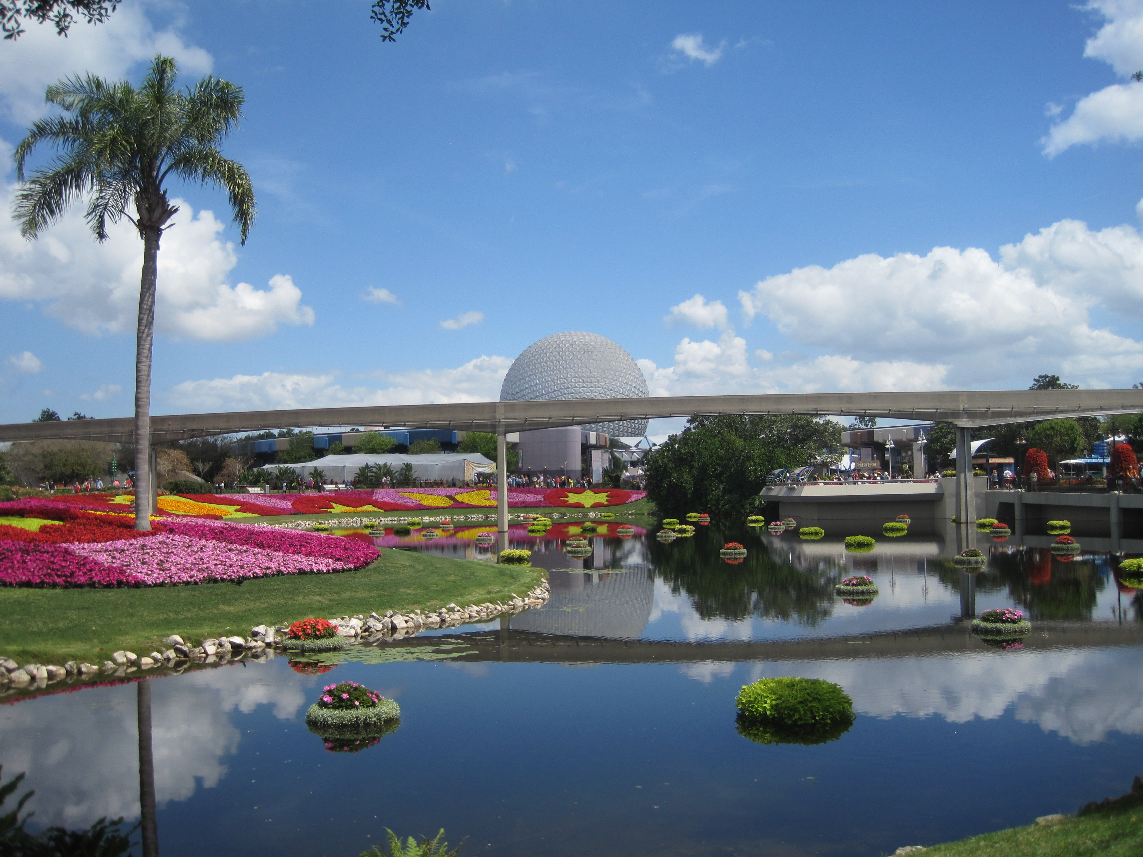 The gorgeous Epcot view..
