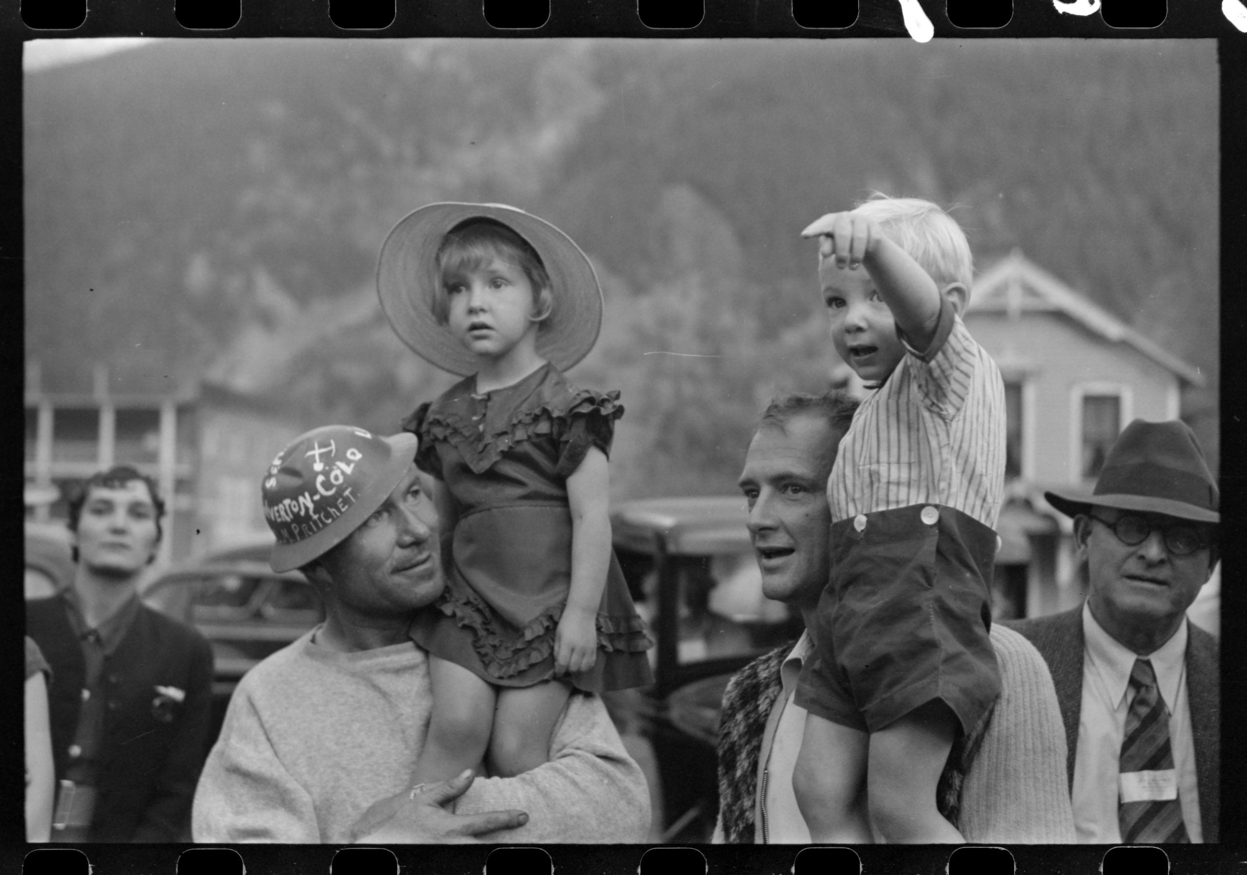 Miners with their children on Labor Day in Colorado, circa 1940. Library of Congress