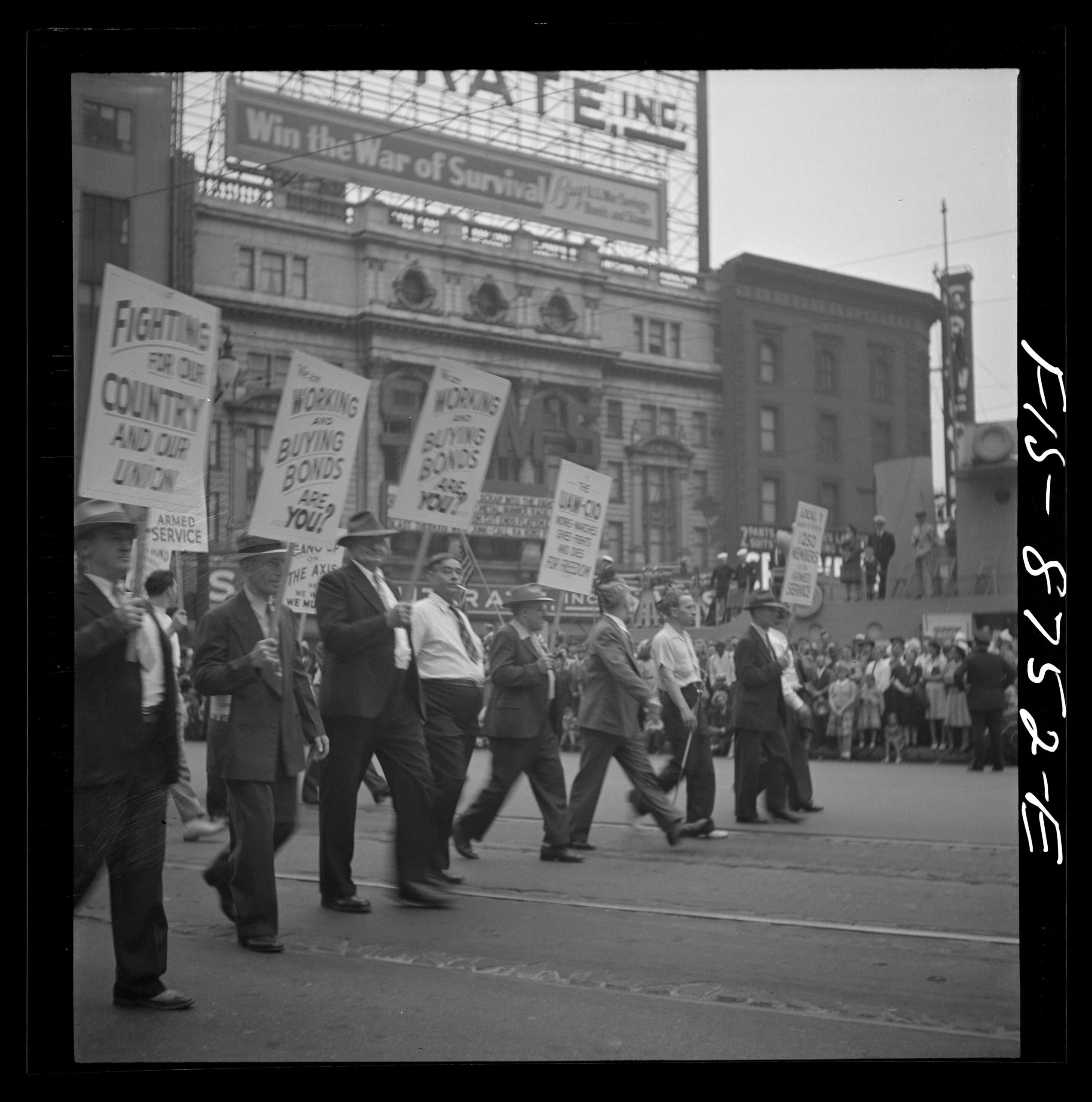 Labor Day marchers in Detroit, circa 1942. Library of Congress