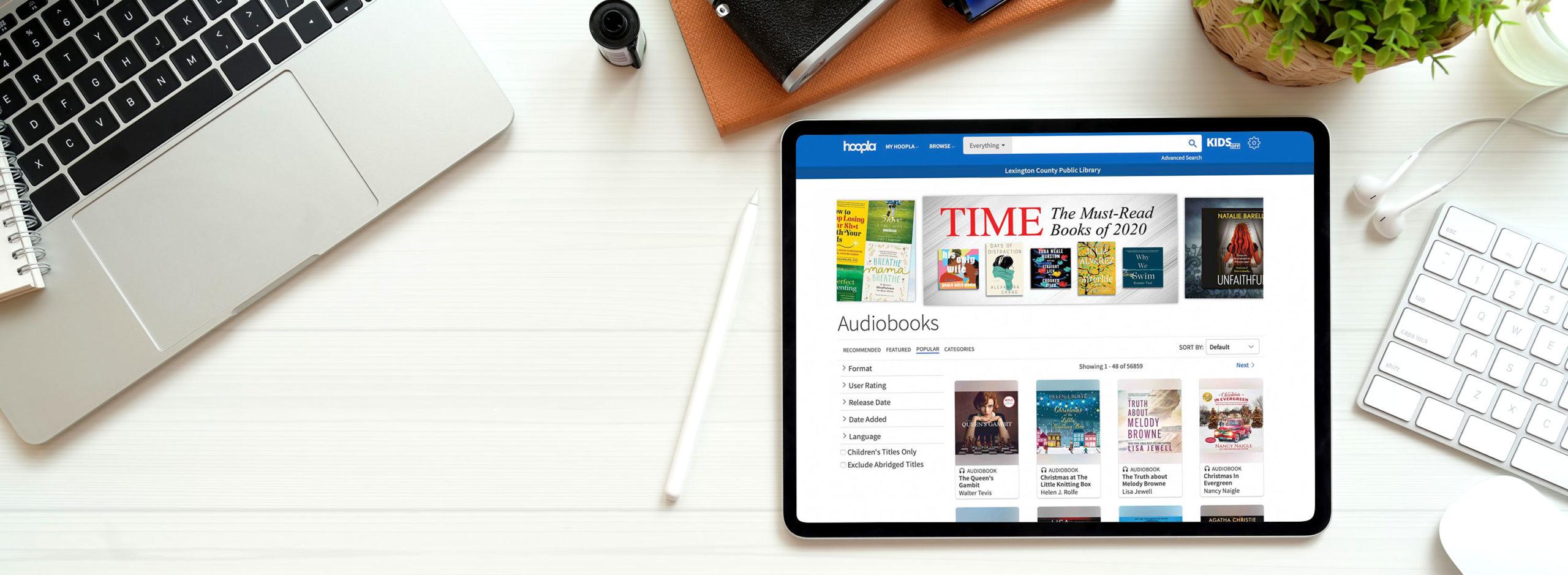 digital downloads: ebooks, audiobooks, magazines