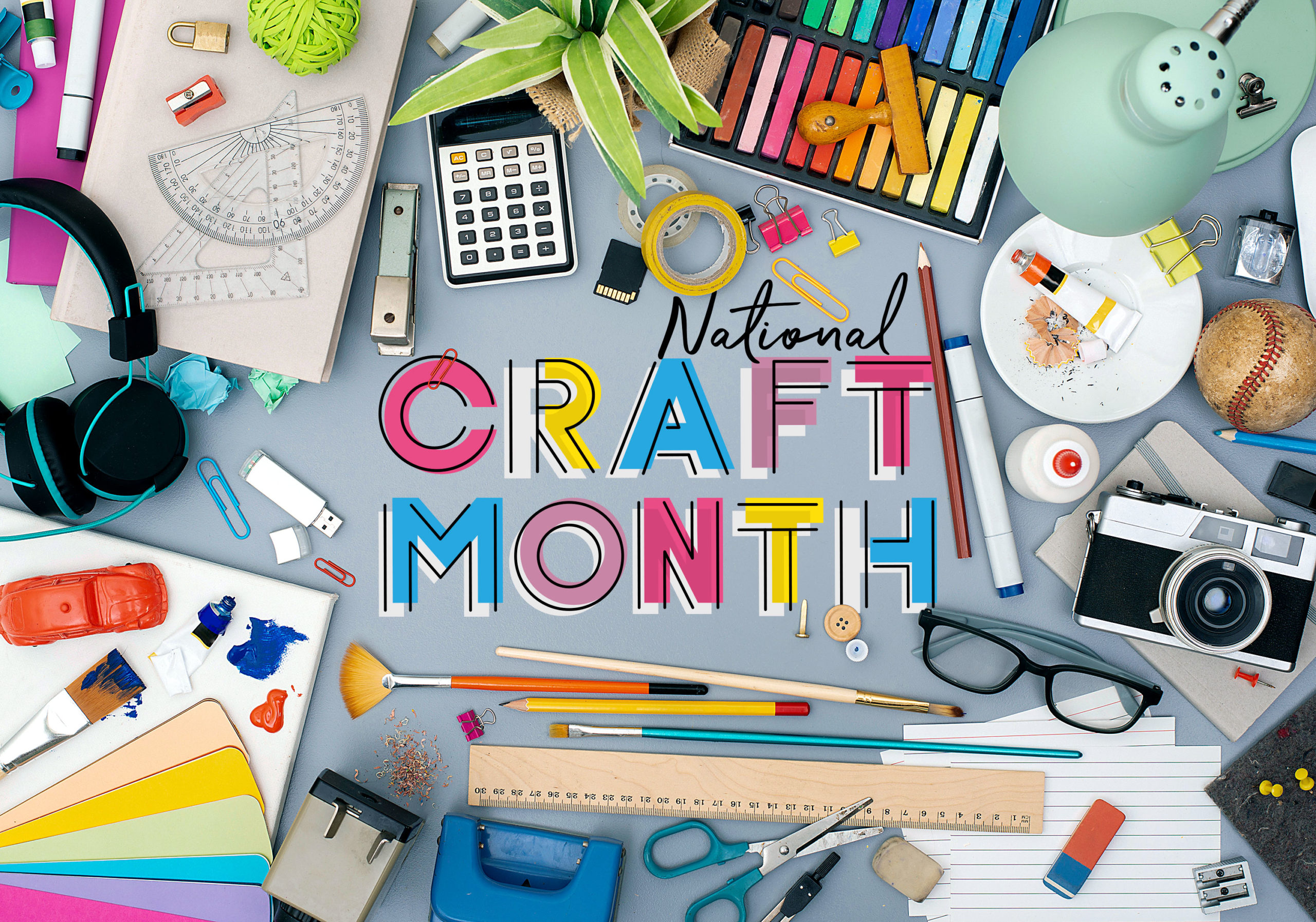 national craft month craft supplies