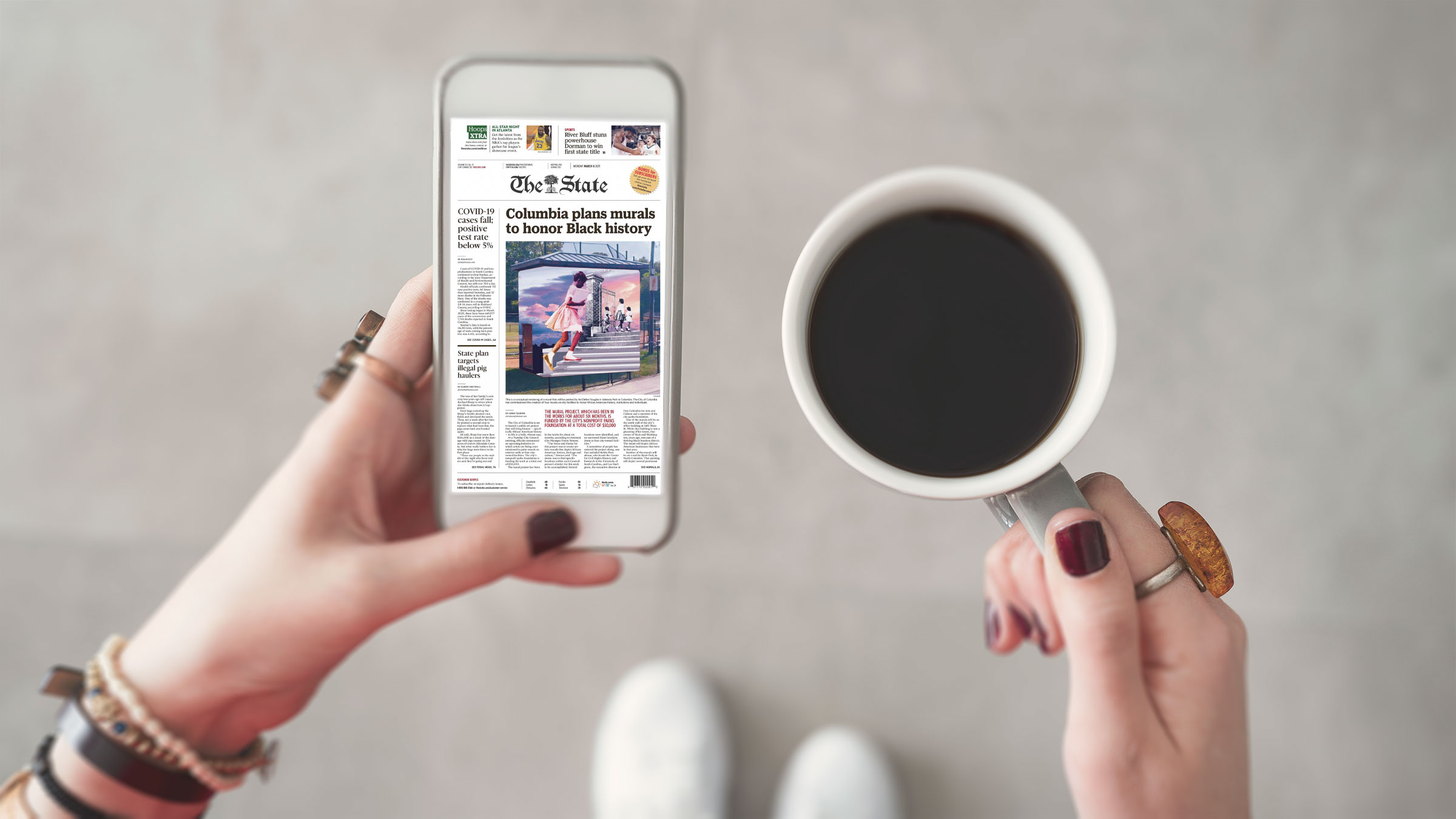the state newspaper free with your library card