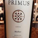 Primus 2012 Malbec Argentina Mendoza