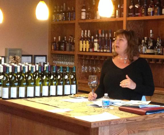 Linda Hazelbaker, our presenter at the Tour of Burgundy wine event.