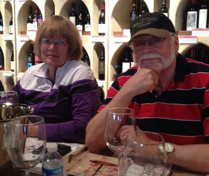 Elaine and Bill Cole at the Tour of Burgundy wine event.