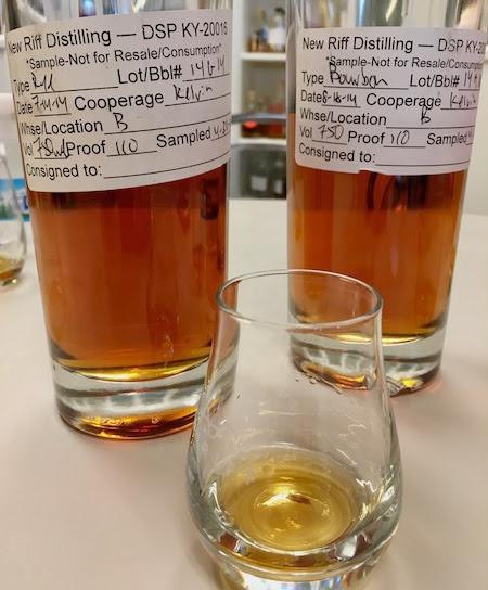 New Riff Distiller Cork and Barrel Bourbon Barrel Pick - bourbon bottle