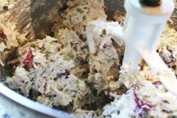 Copy-Cat Kroger Deli Derby City Chicken Salad - made with Greek yogurt for a guilt-free meal! From LexEats.com