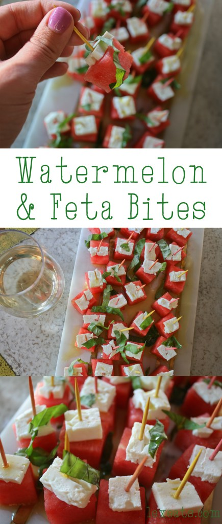 Watermelon Feta Bites on lexeats