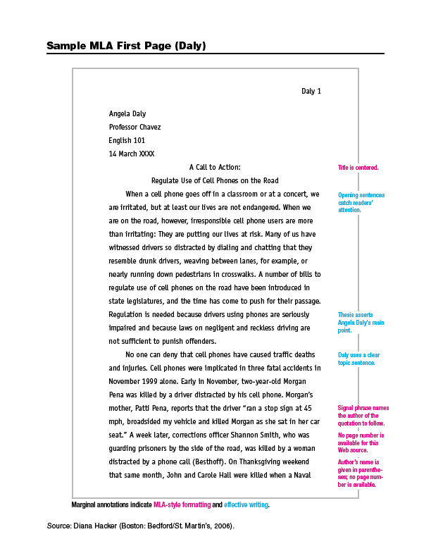 essay citation mla
