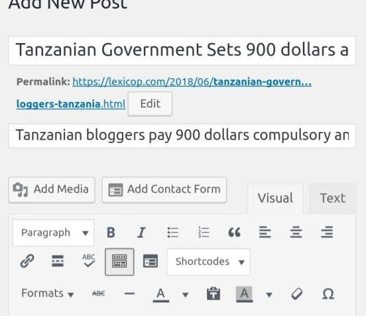Tanzanian Government Sets 900 dollars annual tax for Bloggers in Tanzania