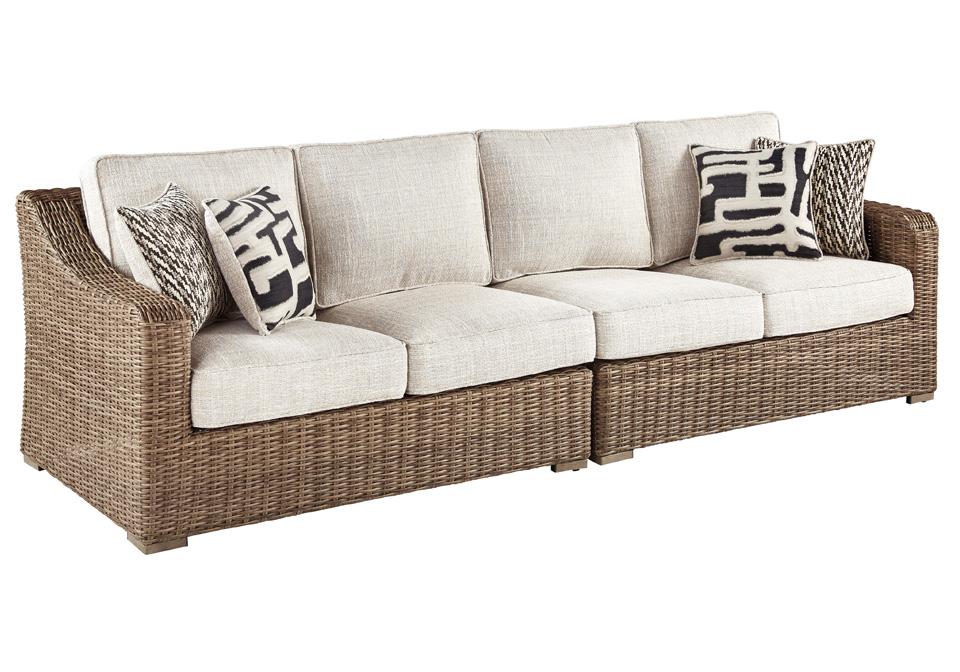Beachcroft Beige Outdoor LAF/RAF Love Seat | Lexington ... on Beachcroft Beige Outdoor Living Room Set  id=70190