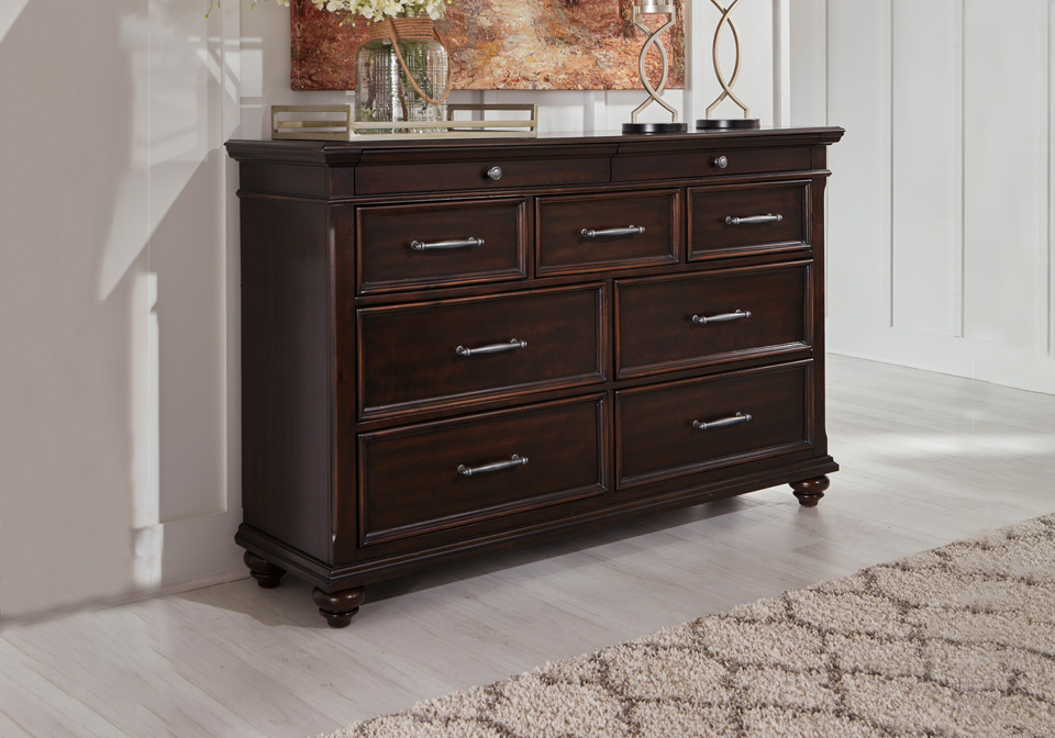brynhurst dark brown dresser