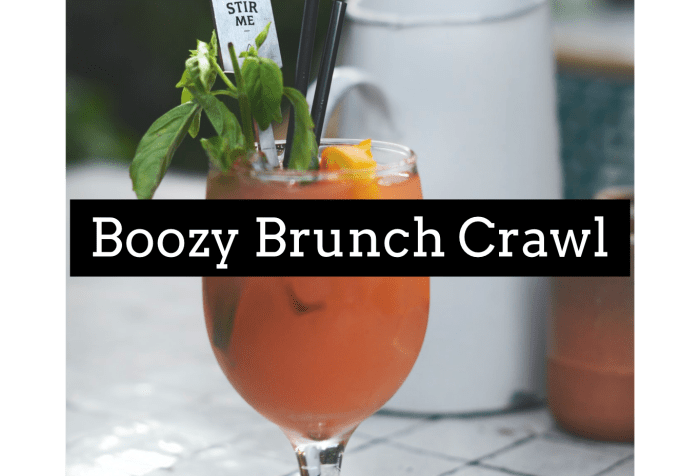 Boozy Brunch Crawl