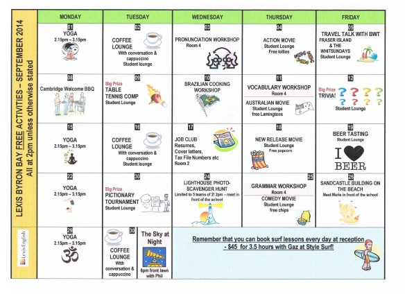 activities september 001