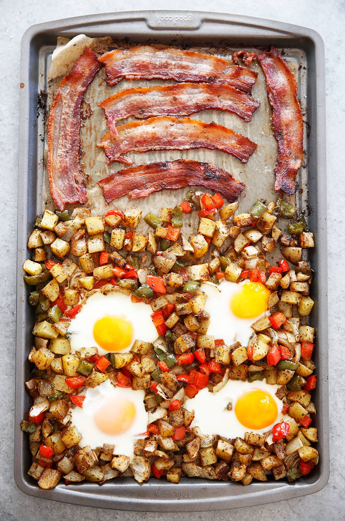 Potato, Bacon, and Egg Sheet Pan