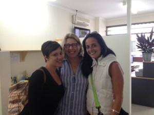 Meret, former teacher Deborah Glover and Mariana