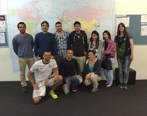 Gustavo (Brazil), Stafano and Valaria (Italy), Alex (Spain), Francisco (Chile), Shahram (Iran), Naoki, Emika and Kanako (Japan) and Tina from Switzerland.