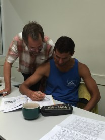 Rodrigo and teacher Michael