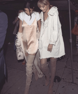 Kendall Jenner and Gigi Hadid slaying the 90's style game