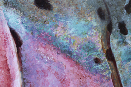 Painting detail from Heaven Bound Rainbow
