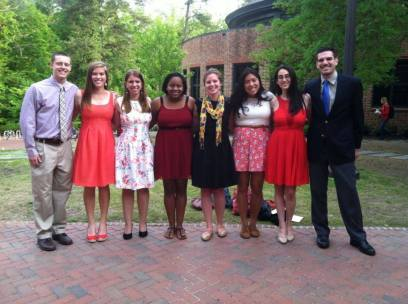 My fabulous staff from William and Mary. Kayla is in the red dress in the middle, next to me. I miss this group immensely.