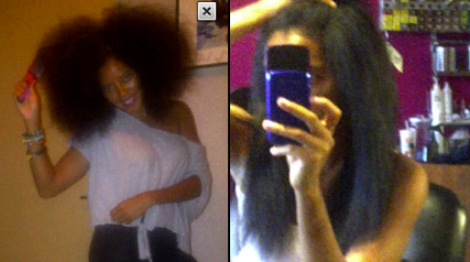 Angela Simmons shows off her natural hair post weave