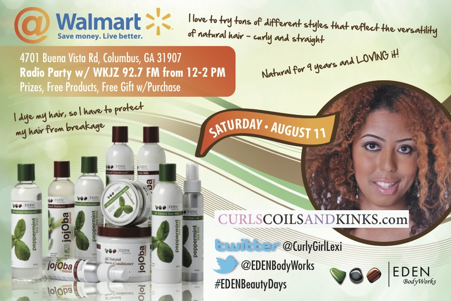 Columbus, GA! Join Me Saturday With EDEN Body Works At Wal-Mart + Prize Info