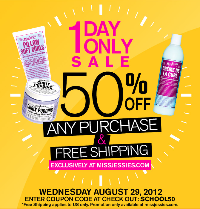 50% Off At MissJessies.com TODAY Only + Free Shipping