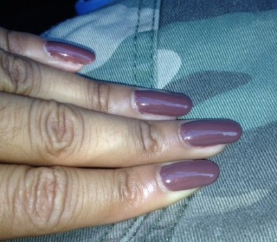 Mani Muse: Chocolate feat. OPI 'Wooden Shoe Like To Know'