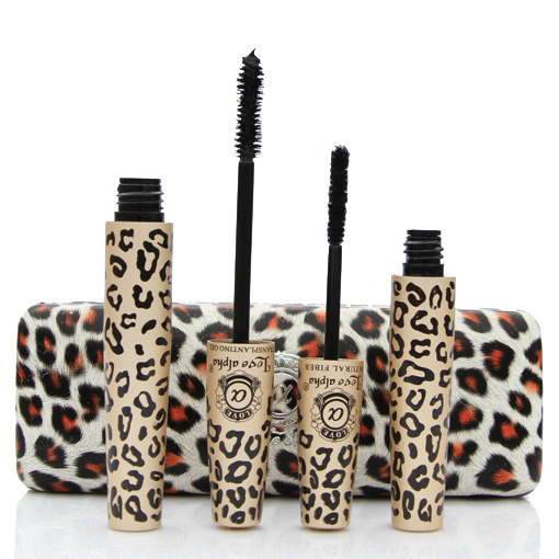 100-Guaranteed-Love-Alpha-Eye-Mascara-Waterproof-leopard-print-Transplanting-Gel-Plus-Natural-Fiber-Mascara-Set