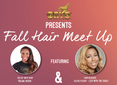 DMV 11/9- Join ONYC Hair Owner Thelma Okoro & Myself