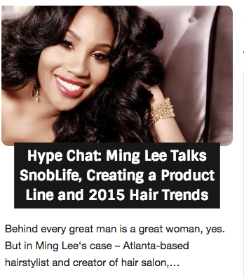 Check Out My Interview With Ming Lee For Hype Hair