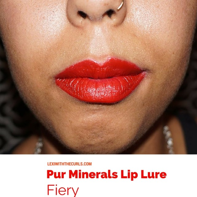 lip lure pur minerals swatch ulta fiery