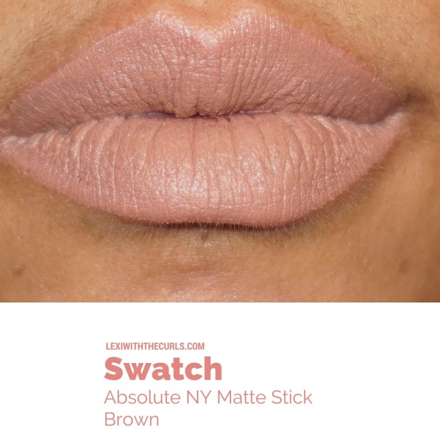 absolute new york matte lipstick brown