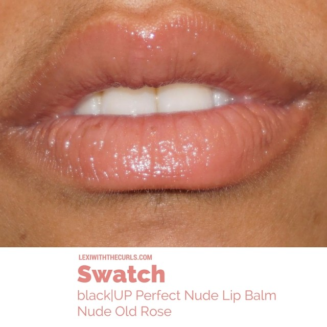 black up cosmetics lip balm nude rose