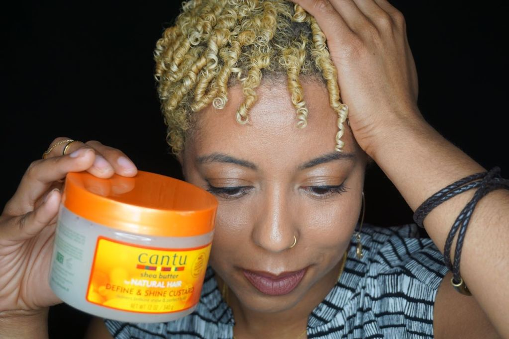 Finger Coils With @CantuBeauty Define and Shine Custard