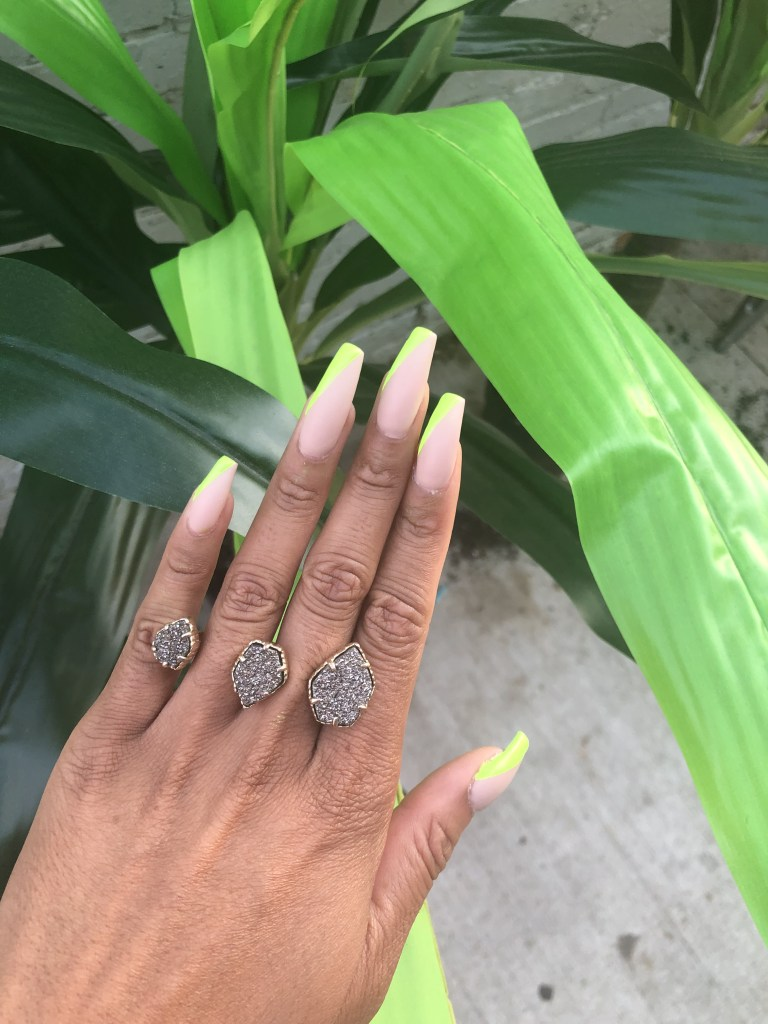 Side French Manicure Trend