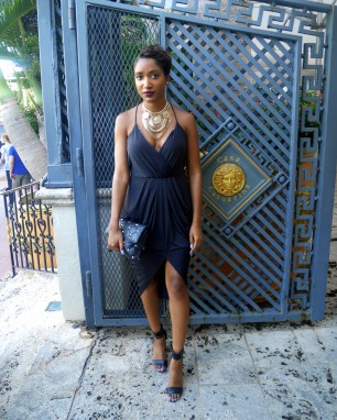 Dress: Necessa0ry Clothing | Shoes: Steve Madden | Necklace: Forever 21 | Clutch: Michael Kors