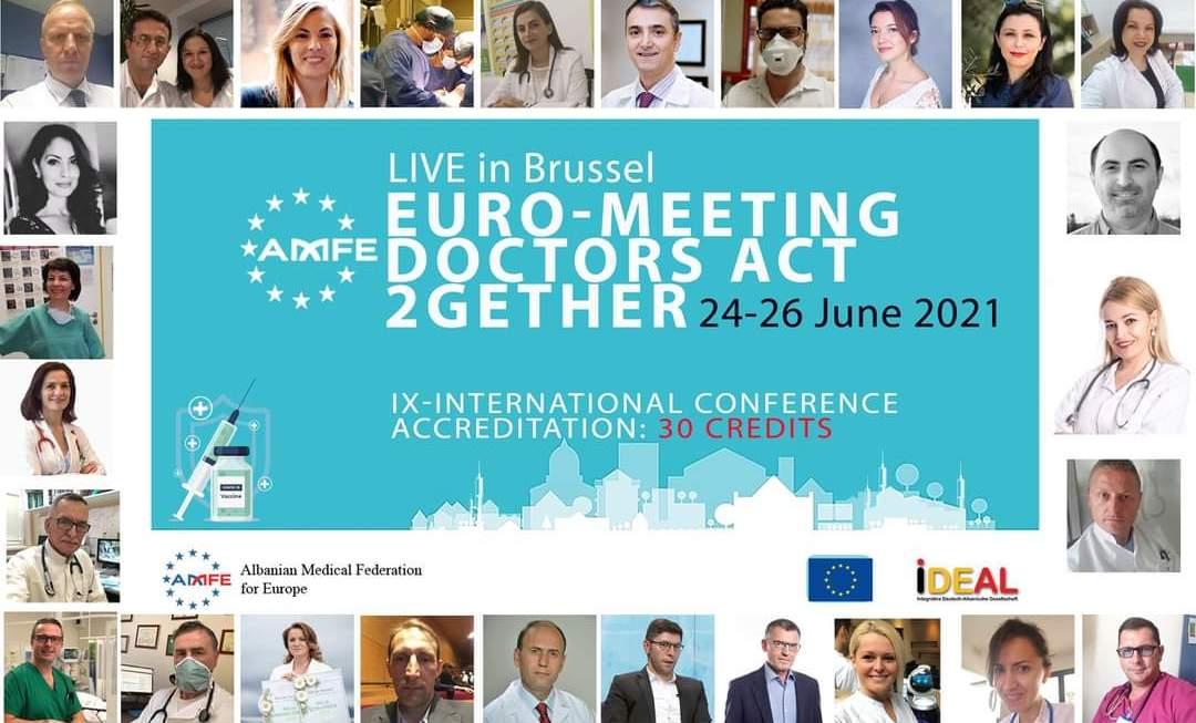 Lajm I Mirë : Federata Mjeksore Europiane Organizon Konferencën E Ix-Të Ndërkombëtare Të Mjekëve Shqiptarë Në Bruksel