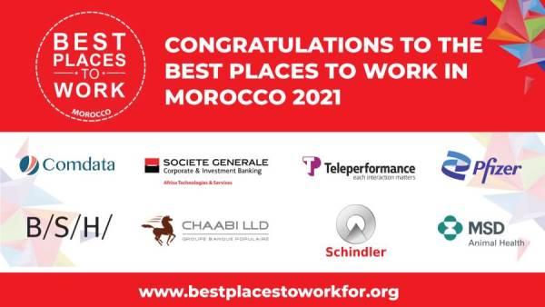 28 أبريل 2021    ثماني شركات تحصل على شهادة أفضل أماكن العمل في المغرب لعام 2021