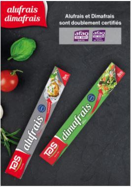 العلامات التجارية ALUFRAIS و  DIMAFRAIS  تتحصل على شهادات المواصفات العالمية